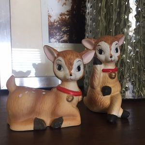 VINTAGE Deer Fawn Figurines, Set Of 2